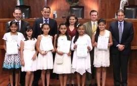 cinco-ninas-de-nayarit-integran-primer-tribunal-electoral-infantil-del-pais