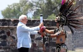 encienden-el-fuego-panamericano-en-teotihuacan