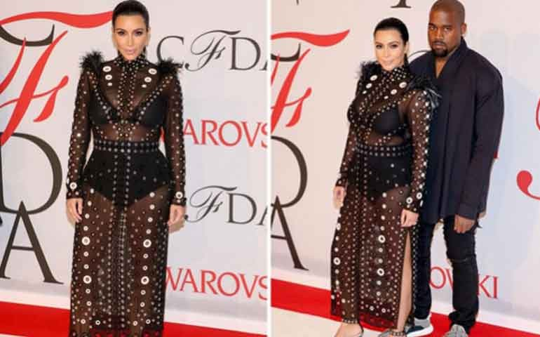 Sensual vestido de Kim Kardashian ¡se incendió en plena alfombra roja!