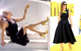 thalia-copia-zapatos-de-minions-a-sandra-bullock