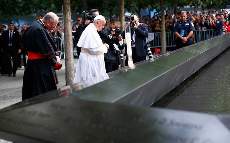 papa-francisco-reza-en-la-zona-cero-de-nueva-york-con-lideres-religiosos