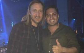 Julión Álvarez se echa un palomazo con David Guetta en Las Vegas