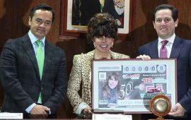 Verónica Castro aparecerá en los billetes de Lotería