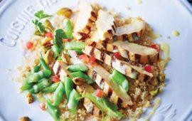Pollo-asado-con-pistache-sobre-quinoa-