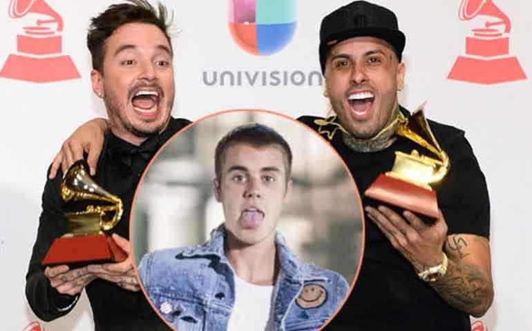 "J-Balvin-y-Nicky-Jam-se-burlan-""des-pa-ci-to""-de-Justin-Bieber--"