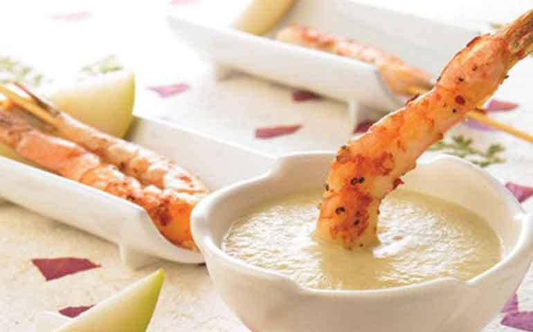 Camarones-en-salsa-de-pera-