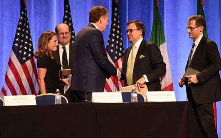 firmaron-negociadores-del-tlcan-pacto-de-confidencialidad