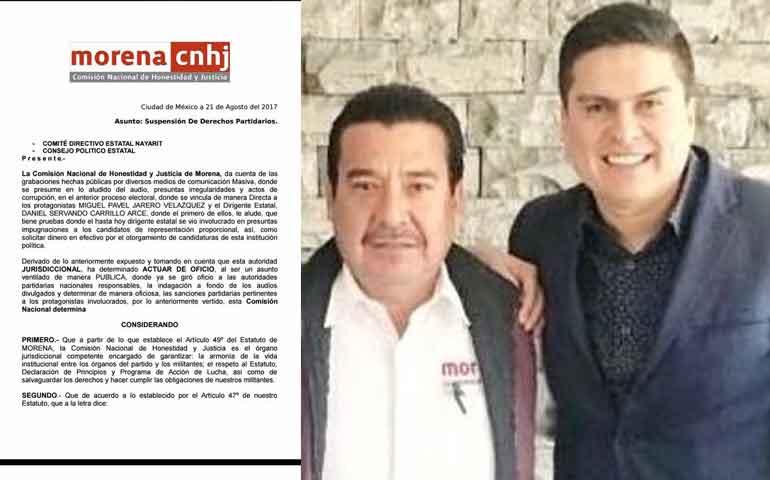 morena-suspende-derechos-partidistas-de-pavel-jarero-y-daniel-carrillo