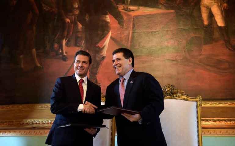 pena-nieto-refuerza-lazos-bilaterales-con-paraguay