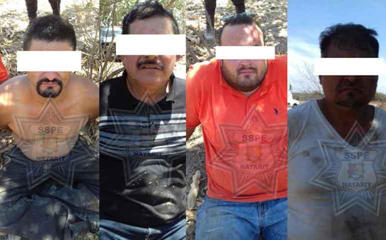 detienen-a-cuatro-presuntos-delincuentes-y-aseguran-maquinaria-robada-en-acaponeta