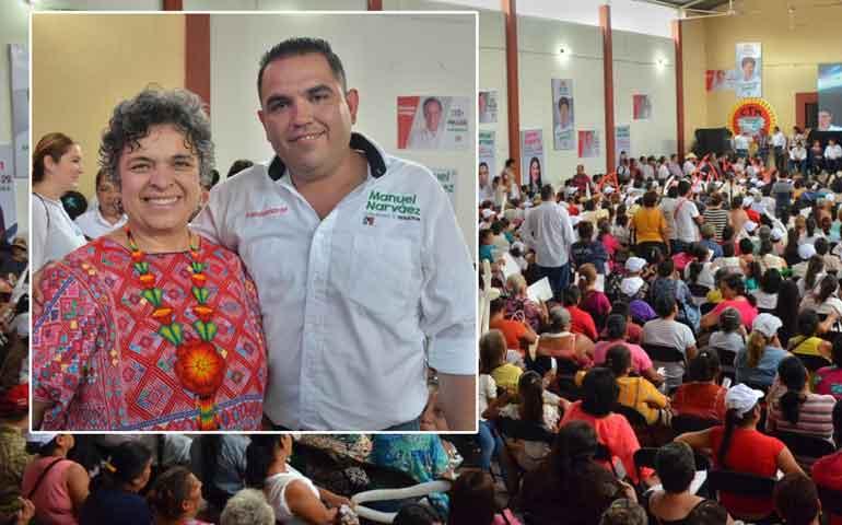 cientos-de-mujeres-santiaguenses-respaldan-a-manuel-narvaez-y-jasmin-bugarin
